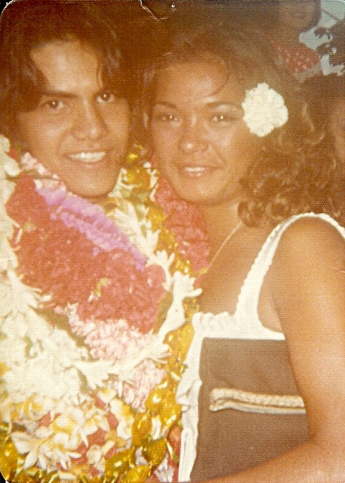 Kaipo's Graduation 1977 ~ Kaimuki High School ~ Waikiki Shell ~ With The Love Of His Life ~ Patty